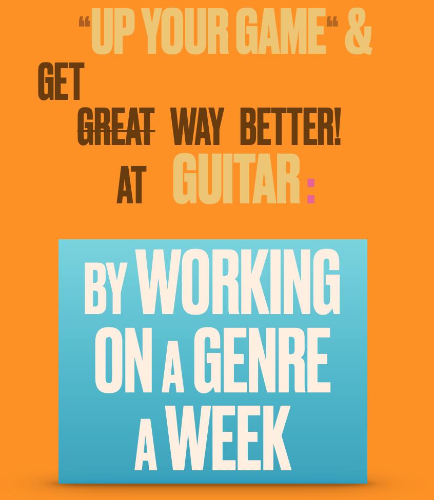 Password Protected Videos: A Genre a Week Guitar Manual